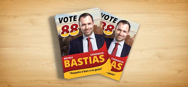 Santinho Político | Eleições 2020 | Gráfica Cartões Mais Barato
